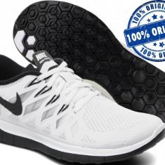 Adidasi barbat Nike Free 5 - adidasi originali - running - adidasi alergare - Adidasi barbati Nike, Marime: 44.5, Culoare: Alb, Textil