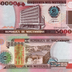 MOZAMBIC 50.000 meticais 1993 UNC!!! - bancnota africa
