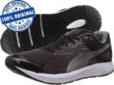 Adidasi barbat Puma Sequence - adidasi originali - running - adidasi alergare, 44, Negru, Textil