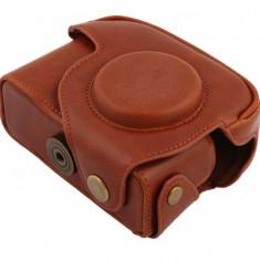Husa piele ecologica pentru Canon Powershot G12, G11, curea de umar inclusa