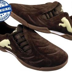 Adidasi copii Puma Powercat 3.10 - adidasi originali - adidasi piele, Marime: 30, Culoare: Maro, Baieti, Piele intoarsa