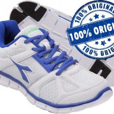 Adidasi barbat Diadora Hawk - adidasi originali - running - adidasi alergare - Adidasi barbati Diadora, Marime: 42, 44.5, Culoare: Alb, Textil