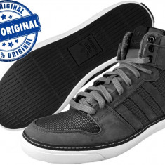 Adidasi barbat Adidas Originals Vespa Gs 2 Hi - adidasi originali - ghete - Ghete barbati Adidas, Marime: 40 2/3, Culoare: Gri, Piele intoarsa