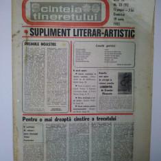 Ziar - supliment literar artistic SCANTEIA TINERETULUI - 19 iunie 1983