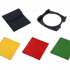 Kit 3 filtre + holder Commlite Black & White compatibile Cokin P - Filtru foto