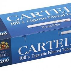 Tuburi tigari CARTEL BLUE 200 TUBURI FILTRU ALB TUBURI LUNGI - Foite tigari