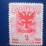 TIMBRE ALBANIA 1920 NESTAMPILAT