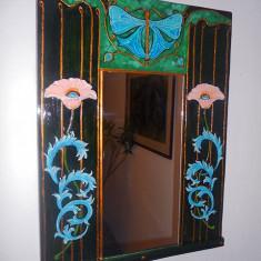 Panou decorativ cu oglinda-art nouveau - Oglinda living