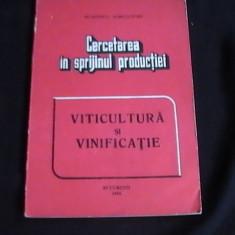 CERCETAREA IN SPRIJINUL PRODUCTIEI-VITICULTURA SI VINIFICATIE-MIN. AGRICULT