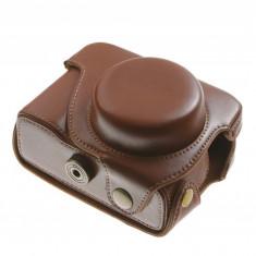 Husa piele eco light-brown pentru Canon Powershot G1X