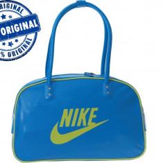 Geanta Nike Heritage - geanta originala - Geanta Dama Nike, Culoare: Albastru, Marime: Masura unica, Geanta sport