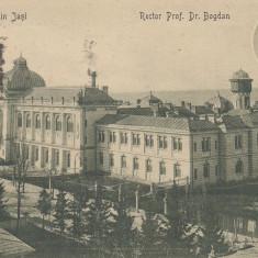 IASI- UNIVERSITATEA, RECTOR PROF. DR. BOGDAN, CIRCULATA, STAMPILA NOV. 1913 - Carte Postala Moldova 1904-1918, Tip: Printata