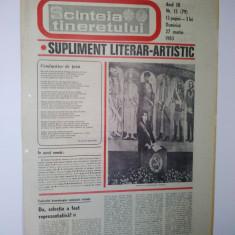 Ziar - supliment literar artistic SCANTEIA TINERETULUI - 27 martie 1983