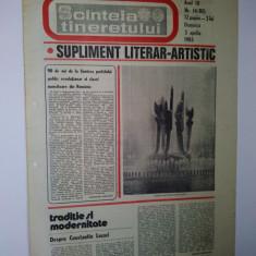 Ziar - supliment literar artistic SCANTEIA TINERETULUI -3 aprilie 1983