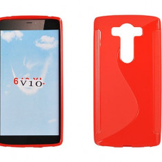 Husa LG V10 TPU S-LINE Rosie - Husa Telefon LG, Rosu, Gel TPU, Fara snur, Carcasa