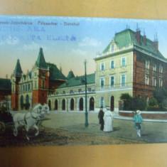 Timisoara Gara Domnita Elena Temesvar Palyaudvar Bahnhof - Carte Postala Banat 1904-1918, Necirculata, Printata