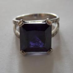 Inel argint cu zirconiu mov - 194