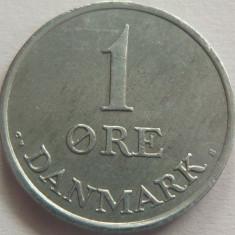Moneda 1 Ore - DANEMARCA, anul 1971 *cod 2744 ZINC a.UNC