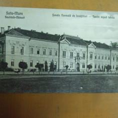 Satu - Mare Scoala normala de invatatori Szatmar - Nemeti Tanito kepzo iskola - Carte Postala Maramures 1904-1918, Necirculata, Printata