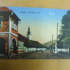 Orsova Szechenyi utca carte postala - Carte Postala Banat 1904-1918, Necirculata, Printata