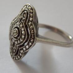 Inel argint cu marcasite - 176
