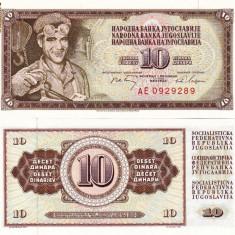 IUGOSLAVIA 10 dinara 1968 UNC!!! - bancnota europa