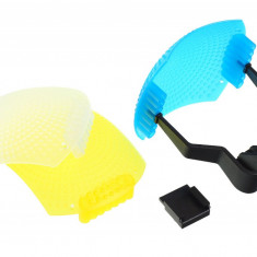 ​JJC FC-22 Kit bounce diffuser 3 in 1 – alb, flourescent, incandescent - Bounce Diffuser Blitz