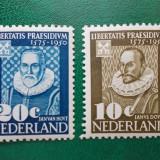 Olanda 1950 12 Euro aniversarea universitatii din Leiden - serie nestampilata MH