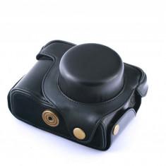 Husa piele eco neagra pentru Canon Powershot G1X - Husa Aparat Foto