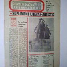 Ziar - supliment literar artistic SCANTEIA TINERETULUI - 8 mai 1983