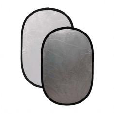 Blenda ovala 2in1 white-silver 120x150cm - Echipament Foto Studio
