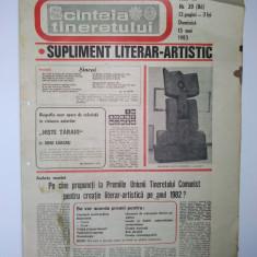 Ziar - supliment literar artistic SCANTEIA TINERETULUI - 15 mai 1983