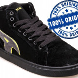 Adidasi barbat Airwalk Atlantic Mid - ghete skate - adidasi originali - in cutie - Adidasi barbati Airwalk, Marime: 44.5, Culoare: Negru, Piele intoarsa