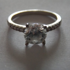 Inel argint zirconiu alb
