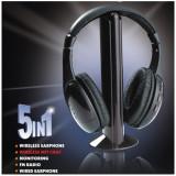 Casti Wireless Stereo 5 in 1 - Microfon, Radio FM, Noi, Garantie, Factura