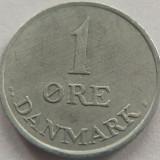 Moneda 1 Ore - DANEMARCA, anul 1961 *cod 2741 Zinc xF, Europa