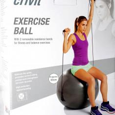 Minge fitness cu benzi elastice - 65 cm - cu brosura de exercitii