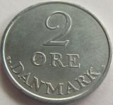 Moneda 2 Ore - DANEMARCA, anul 1971 *cod 1489 ZINC a.UNC