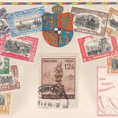 REGALA, SERIA FILATELICA 40 DE ANI DE DOMNIE CAROL I, STEMA SI HARTA - Carte postala tematica, Necirculata, Printata