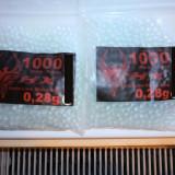 Bile 6mm sticla airsoft, 0, 28 grame 1000 buc  pistol,pusca,etc...