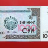 UZBEKISTAN  -  1.000 Som 2001  -  aUNC
