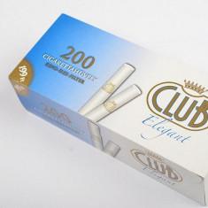 Tuburi tigari CLUB ELEGANT 200 TUBURI CU FILTRU ALB - Foite tigari