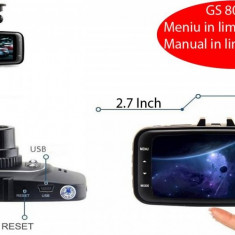 Camera Auto DVR GS8000L Full HD 1080p, 2, 7