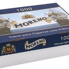 Tuburi tigari MORENO 1000 TUBURI CU FILTRU ALB - Foite tigari