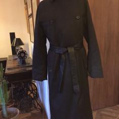 Haina cu blana, lunga, de dama PRADA autentica - Palton dama, Marime: Alta, Culoare: Din imagine