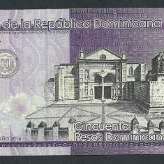 REPUBLICA DOMINICANA 50 PESOS DOMINICANOS 2014 [2] P-189, XF - bancnota america