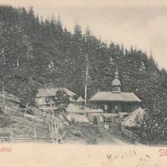 NEAMT, SCHITUL SIHLA(IN RELIEF) - Carte Postala Moldova 1904-1918, Stare: Circulata, Tip: Printata, Oras: Piatra Neamt