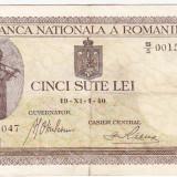 2) Bancnota 500 lei 1 XI 1940 - Bancnota romaneasca
