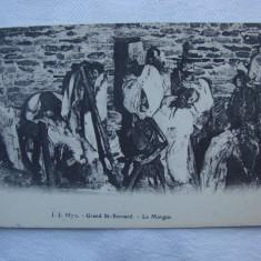 Carte postala tematica cu morga Grand St. Bernard, Geneve, Necirculata, Printata, Elvetia