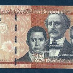 REPUBLICA DOMINICANA 100 PESOS DOMINICANOS 2014, XF [6] P-190 - bancnota america